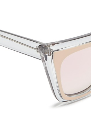 Detail View - Click To Enlarge - self-portrait - x Le Specs 'Edition One' layered acetate cat eye mirror sunglasses