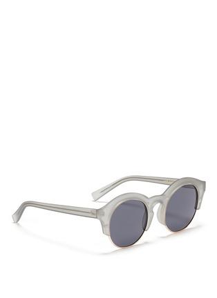 Figure View - Click To Enlarge - SELF-PORTRAIT - x Le Specs 'Edition Five' half rim frosted acetate round sunglasses