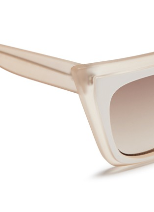 Detail View - Click To Enlarge - self-portrait - x Le Specs 'Edition One' layered acetate cat eye sunglasses