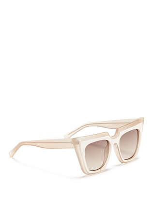 Figure View - Click To Enlarge - self-portrait - x Le Specs 'Edition One' layered acetate cat eye sunglasses