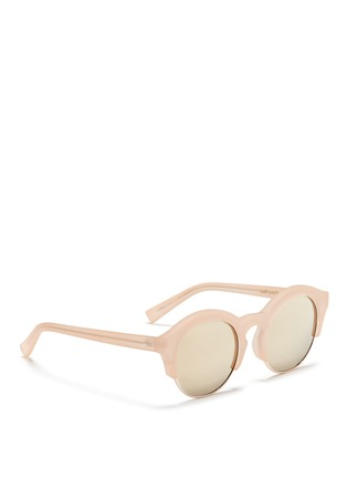 Figure View - Click To Enlarge - self-portrait - x Le Specs 'Edition Five' half rim frosted acetate round sunglasses