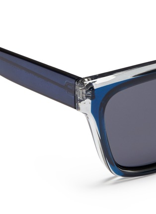 Detail View - Click To Enlarge - self-portrait - x Le Specs 'Edition Two' colourblock acetate square sunglasses