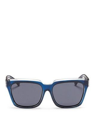 Main View - Click To Enlarge - self-portrait - x Le Specs 'Edition Two' colourblock acetate square sunglasses