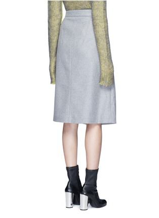 Back View - Click To Enlarge - Acne Studios - 'Panna' wrap front flannel pencil skirt