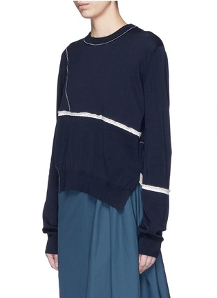 Front View - Click To Enlarge - Acne Studios - 'Anya Patch' mercerised cotton sweater