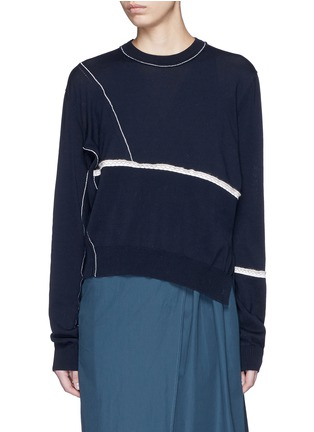 Main View - Click To Enlarge - Acne Studios - 'Anya Patch' mercerised cotton sweater
