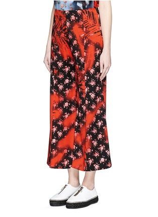 Front View - Click To Enlarge - Acne Studios - 'Olexa' sakura print cropped flare pants
