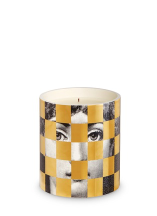 Main View - Click To Enlarge - FORNASETTI - Schacchi Oro large scented candle 1.9kg