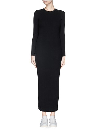 Main View - Click To Enlarge - THEORY - 'Adrellana' wool-blend rib knit dress