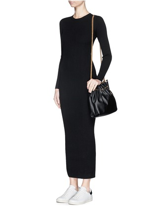 Figure View - Click To Enlarge - THEORY - 'Adrellana' wool-blend rib knit dress