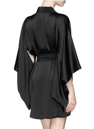 Back View - Click To Enlarge - Kiki De Montparnasse - 'Amour' silk kimono robe