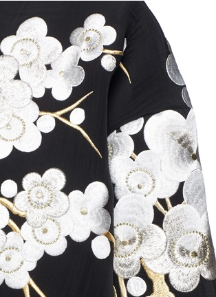Detail View - Click To Enlarge - Ms MIN - 'Met Ball' floral embroidery scuba knit coat