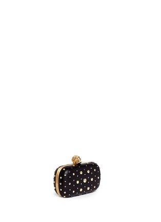 Front View - Click To Enlarge - Alexander McQueen - Stud skull leather clutch