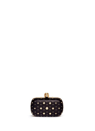 Main View - Click To Enlarge - Alexander McQueen - Stud skull leather clutch
