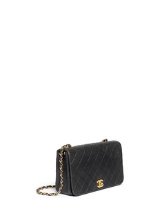 Vintage Chanel Quilted leather full flap bag