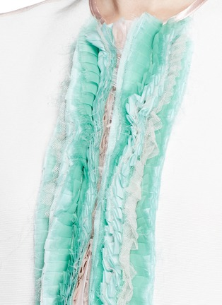Detail View - Click To Enlarge - Haider Ackermann - 'Dendi' mesh pleat silk organza shirt