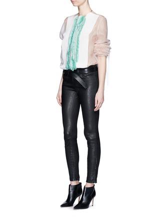 Figure View - Click To Enlarge - Haider Ackermann - 'Dendi' mesh pleat silk organza shirt