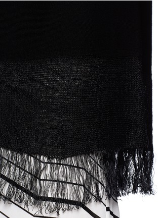 Detail View - Click To Enlarge - Theory - 'Vendla' fringe knit tank top