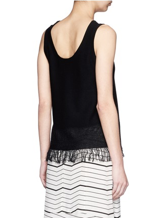 Back View - Click To Enlarge - Theory - 'Vendla' fringe knit tank top