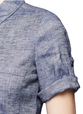 Detail View - Click To Enlarge - Theory - 'Mayvine' linen chambray shirt dress
