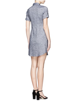 Back View - Click To Enlarge - Theory - 'Mayvine' linen chambray shirt dress