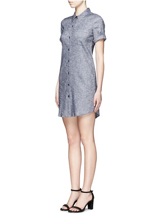 Front View - Click To Enlarge - Theory - 'Mayvine' linen chambray shirt dress