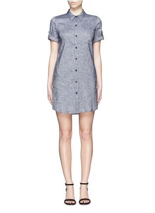 Main View - Click To Enlarge - Theory - 'Mayvine' linen chambray shirt dress