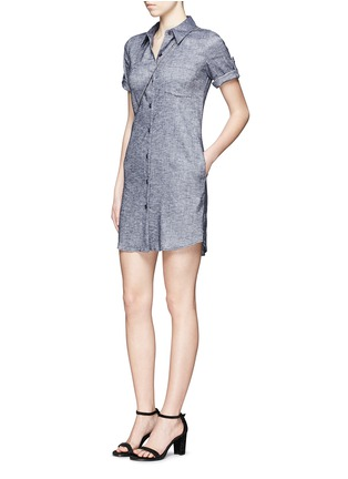 Figure View - Click To Enlarge - Theory - 'Mayvine' linen chambray shirt dress