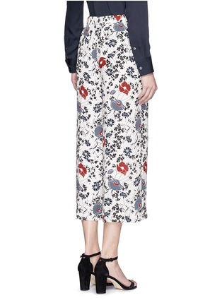 Back View - Click To Enlarge - Theory - 'Raoka WB' floral print silk georgette pants