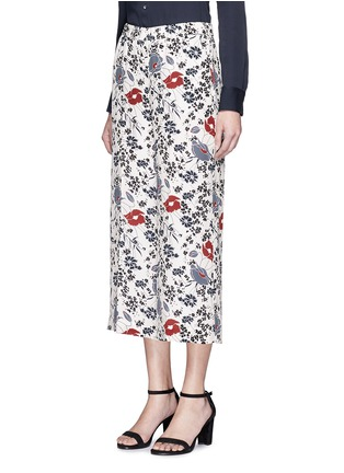 Front View - Click To Enlarge - Theory - 'Raoka WB' floral print silk georgette pants