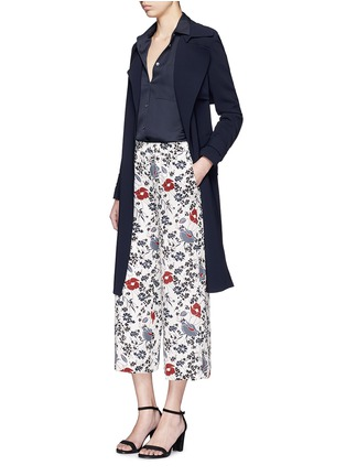Figure View - Click To Enlarge - Theory - 'Raoka WB' floral print silk georgette pants