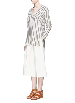 Figure View - Click To Enlarge - Theory - 'Haydren' stripe V-neck sweater