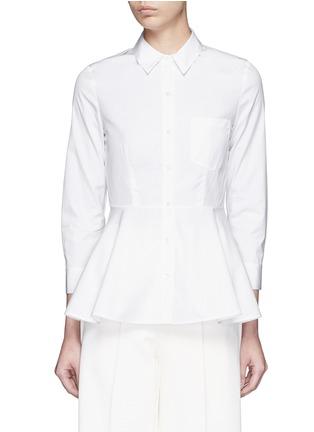 Main View - Click To Enlarge - Theory - 'Eyodis' peplum hem cotton poplin shirt
