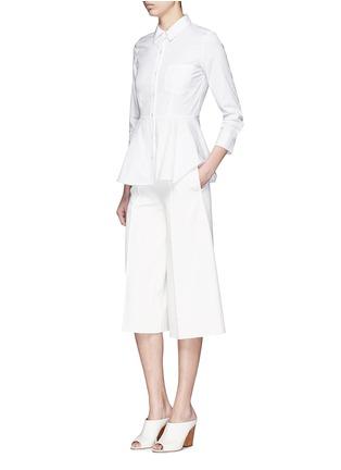 Figure View - Click To Enlarge - Theory - 'Eyodis' peplum hem cotton poplin shirt