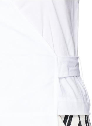 Detail View - Click To Enlarge - Theory - 'Analice' cotton poplin wrap blouse
