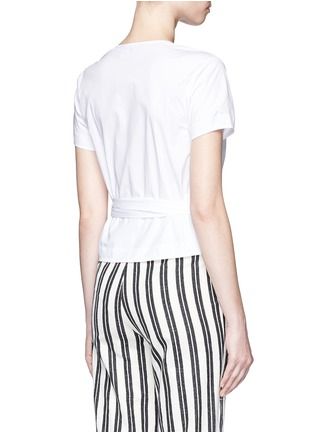 Back View - Click To Enlarge - Theory - 'Analice' cotton poplin wrap blouse