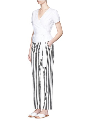 Figure View - Click To Enlarge - Theory - 'Analice' cotton poplin wrap blouse