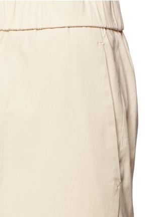 Detail View - Click To Enlarge - Theory - 'Raoka W' cropped wide leg cotton poplin pants