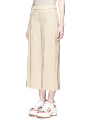 Front View - Click To Enlarge - Theory - 'Raoka W' cropped wide leg cotton poplin pants