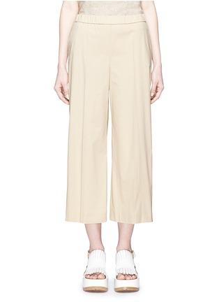Main View - Click To Enlarge - Theory - 'Raoka W' cropped wide leg cotton poplin pants
