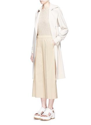 Figure View - Click To Enlarge - Theory - 'Raoka W' cropped wide leg cotton poplin pants