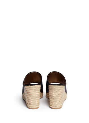 Back View - Click To Enlarge - Sam Edelman - 'Bonnie' leather espadrille wedge mule sandals