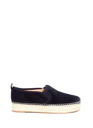 Main View - Click To Enlarge - SAM EDELMAN - 'Carrin' suede flatform espadrilles