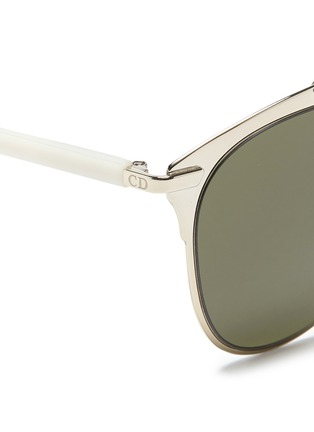 Detail View - Click To Enlarge - Dior - Dior Reflected' double bridge wire frame aviator sunglasses