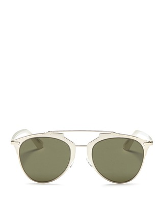 Main View - Click To Enlarge - Dior - Dior Reflected' double bridge wire frame aviator sunglasses