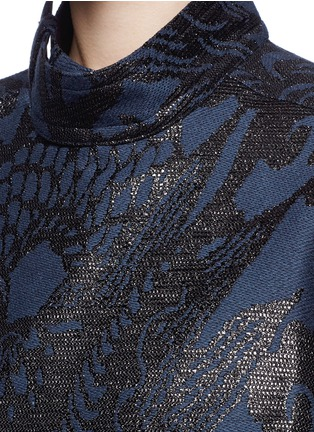 Detail View - Click To Enlarge - Ms MIN - Dragon jacquard side zip jacket
