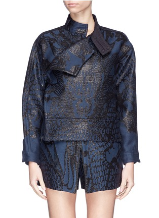 Main View - Click To Enlarge - Ms MIN - Dragon jacquard side zip jacket