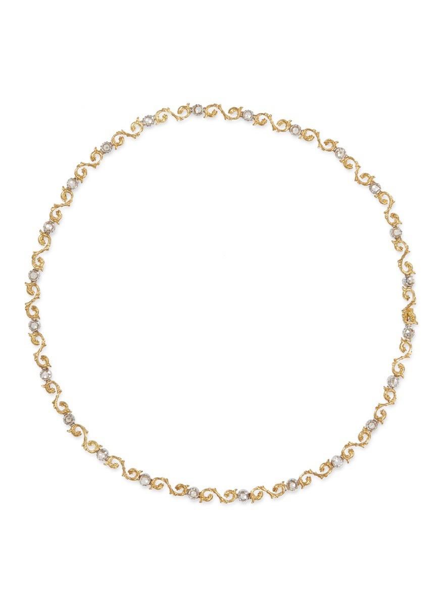 Diamond 18k gold necklace - BUCCELLATI - Modalova