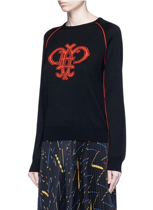 Front View - Click To Enlarge - Emilio Pucci - Monogram Merino wool sweater
