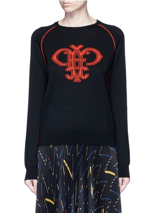 Main View - Click To Enlarge - Emilio Pucci - Monogram Merino wool sweater